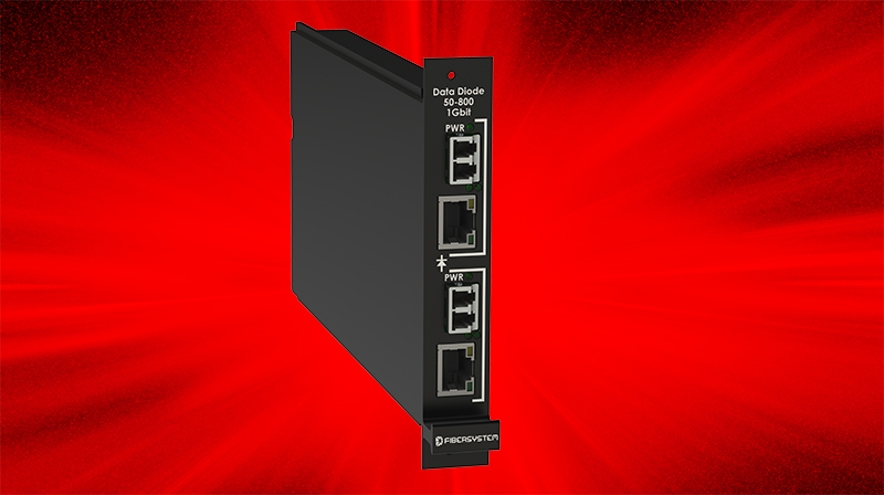Fibersystem proudly presents Data Diode Rack Module Secure